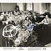 Robert Mitchum Autograph on old Lobby Card. CoA