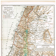 Old Palestine: Vintage Map from 1902
