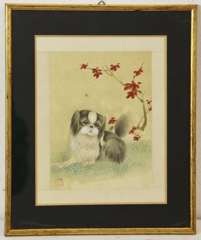 Painting of a Peke