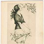 Max Brning Postcard Young Lady in Spring