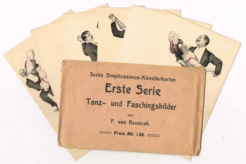 Simplizissimus postcard Set