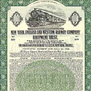 New York, Ontario and Western Railway Company � 1000 $ Bond 1929