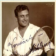REDUCED 1918: Autographed  Photo of Tennis Player. COA included