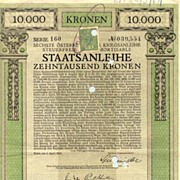 Austrian Art Nouveau: 6th War Bond 10.000 Kronen.