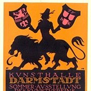 1914: German lithographed ad for the �Kunsthalle Darmstadt�.