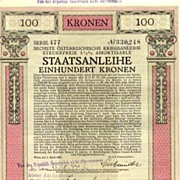1917: Austrian War Bond designed by Alexander Rothaug