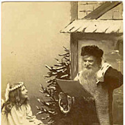 1917: Postcard of Santa with an Angel