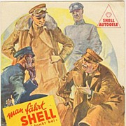 Ad for Shell Oil Company: Old postcard from Germany ca. 1940