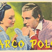 Cary Cooper starring in Marco Polo: Old Promotion Postcard