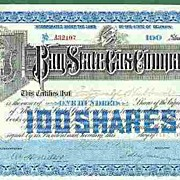 REDUCED 1918: Pan State Gas Company, 100 Shares