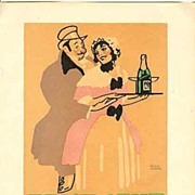 1914: Decorative Litho Print for Feist � Sekt ( Sparkling Wine )