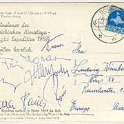 1959: Austrian Mountaineering - Himalaya Expedition. Fritz Moravetz Signature