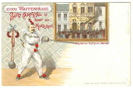 unusual Carnival Postcard