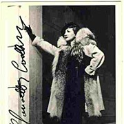 Claudette Colbert Autograph on b/w Photo + unsigned Ross Photo. COA