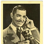 Clark Gable Autograph: Early Signature on Ross Photo. CoA