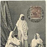 Old India Postcard: Ayahs. Apollo Bandar Cancellation
