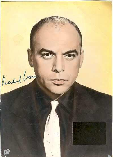 Herbert Lom Autograph Coa Letter From Curioshop On Ruby
