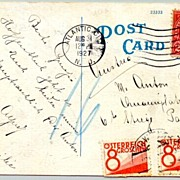 1927: USA - Austria. Card with postage dues