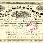 1879: Dubuque & Sioux City Railroad Company. 36 shares
