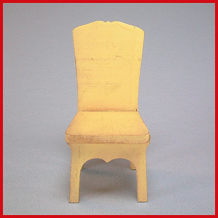 Strombecker Dollhouse Kitchen Chair - Cream 1931 Large 1&quot; Scale