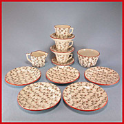REDUCED Ridgway English Toy China Tea Set  Daisy Pattern 13 Pcs.