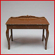 Tootsie Toy Dollhouse Dining Room Server  Brown 1920s 1/2&quot; Scale