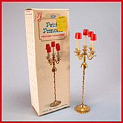 "Petite Princess Dollhouse #4438-8 Fantasia Candelabra with Box by Ideal 1964 3/4"" Scale"