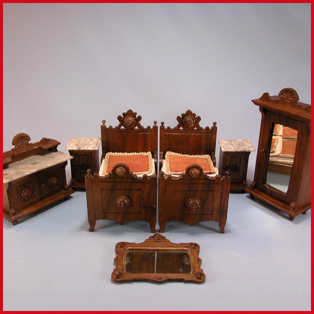 pc antique german dollhouse luxury bedroom suite mid victorian from