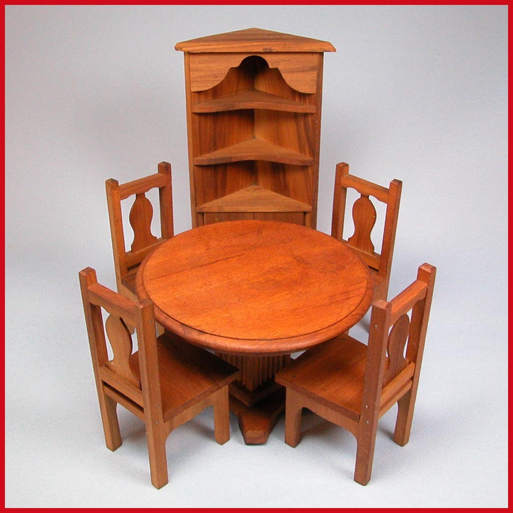 pc dollhouse dining room furniture set 1920s 1930s large 1