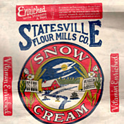 Old Southern Belle Kerchief advertising Snow Cream flour sack Statesville Flour Mills Co