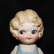 "5.5"" Made in Japan ALL-BISQUE doll w/side glancing eyes"