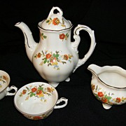 SALE Child's Footed German Porcelain Koenigszelt Tea Set -Charlotte