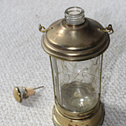 Vintage Musical Lantern Decanter &quot;How Dry I Am&quot;