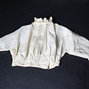 Doll Blouse Antique ca. 1880 for Large French Fashion or China