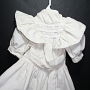 SALE PENDING Large Vintage Cotton Doll Dress w/ Bretelle Collar - Anne of Green Gables Style