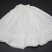 SOLD Nice lot of 3 vintage cotton doll half slips w/eyelet and lace