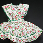 SALE PENDING Two Vintage Doll Dresses and a Skirt 1940s-50s