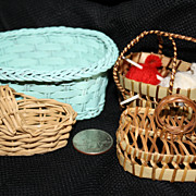 Collection of Vintage Doll Wicker