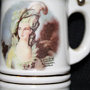 Lidded Miniature Stein with Portrait of Mrs. Graham, by Gainsborough