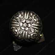 SALE PENDING Old Tiny Round Silver Box