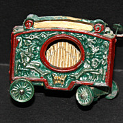 Vintage Metal Toy Calliope Wagon, Horse or Train Drawn