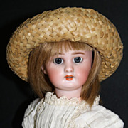 "SALE Size 3 DEP Jumeau 12"" with matching French body & lever eyes"