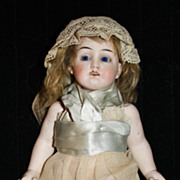 LARGE 8.5 all-bisque JOINTED German doll marked 5934 w/matching limbs