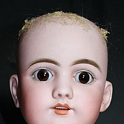((ON 24 hr hold)) LARGE Handwerck DEP 109 Antique German Bisque Doll Head