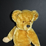 Vintage Dean's Bear with World War ll Navy Hat, Navy Pin, Coat