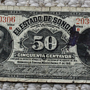 1915 50 Centavo Banknote Issues by the Mexican State of Sonora