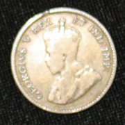 "1911 Canadian ""Godless"" 5 Cent Coin - .925 Silver"