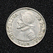 1940 Panama Coin - Two and a Half Centesimos de Balboa