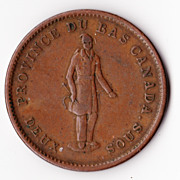 1854 Upper Canada One Penny Bank Token