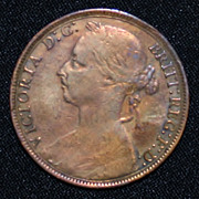 1891 British Bronze Penny
